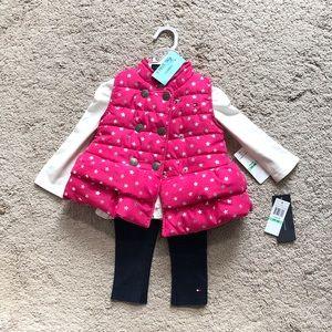 3 piece set baby girl cloths